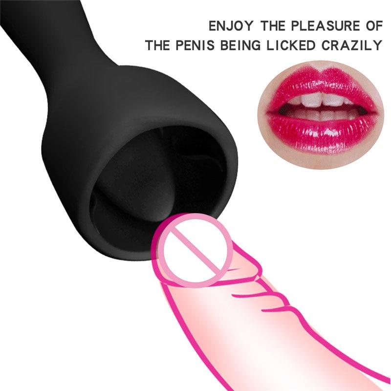 BDSM Bondage Restraints Flirting Massage Oral Licking Vibrator Clitoris Stimulator Adult Sex Toys For Woman Couples Masturbation
