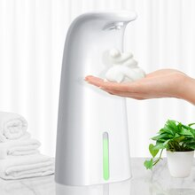 250ML Automatic Foam Soap Dispenser Smart Liquid Soap Dispenser Contactless Infrared Sensor Induction Foam Dispenser Pump