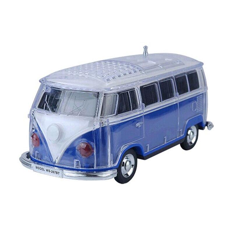 Auto Ws-267Bt mini bluetooth mini ônibus alto-falante caixa de som mp3 + + u disco tf + fm azul