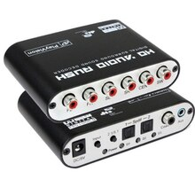 RCA Digitale DTS/AC-3 Decoder 2 manier SPDIF Coaxiale 6RCA HD Decoder + Kabel 5.1-channel Switch 120dB Signaal-ruisverhouding