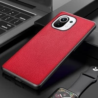 rykkz for xiaomi 11 lite pro ultra crocodile texture genuine leather shockproof back cover
