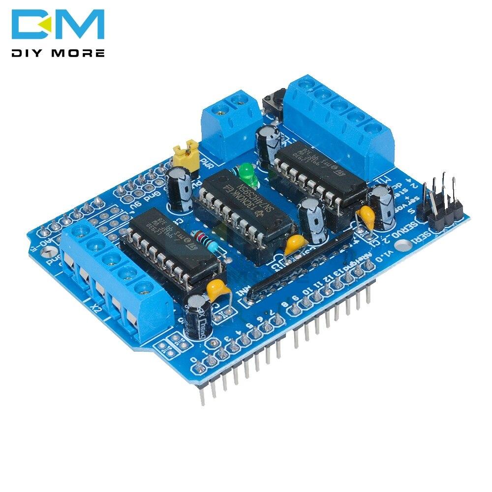 L293D L293 H-мостовой двигатель, шаговый модуль, управление доской драйвера, плата расширения двигателя для Arduino Mega2560