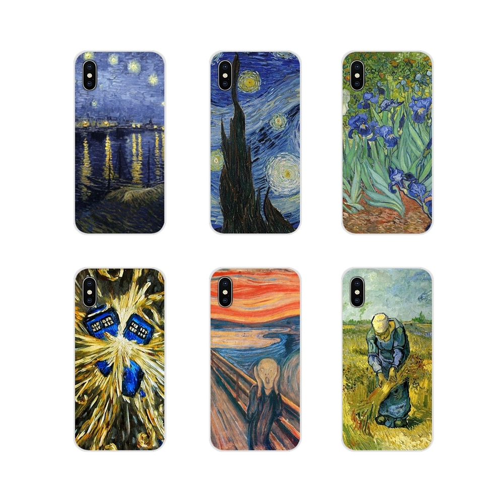 Para HTC uno U11 U12 X9 M7 M8 A9 M9 M10 E9 más deseo 630, 530, 626, 628, 816, 820 830 funda de teléfono móvil de Vicent Willem van Gogh Tardis