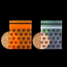 Orange Grimace crâne Mini Miniature fermeture à glissière serrure poignée en plastique emballage sac magasin resceller épais PE alimentaire bonbons bijoux drogue poudre
