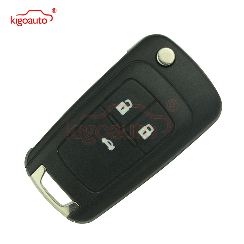Cruze flip remote key 2010 2011 2012 2013 2014 3 button 433 Mhz for Chevrolet car key with ID46 chip kigoauto