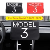 suitable for tesla model 3 2020 2021 accessory navigation cover sliding sun protection waterproof fabric