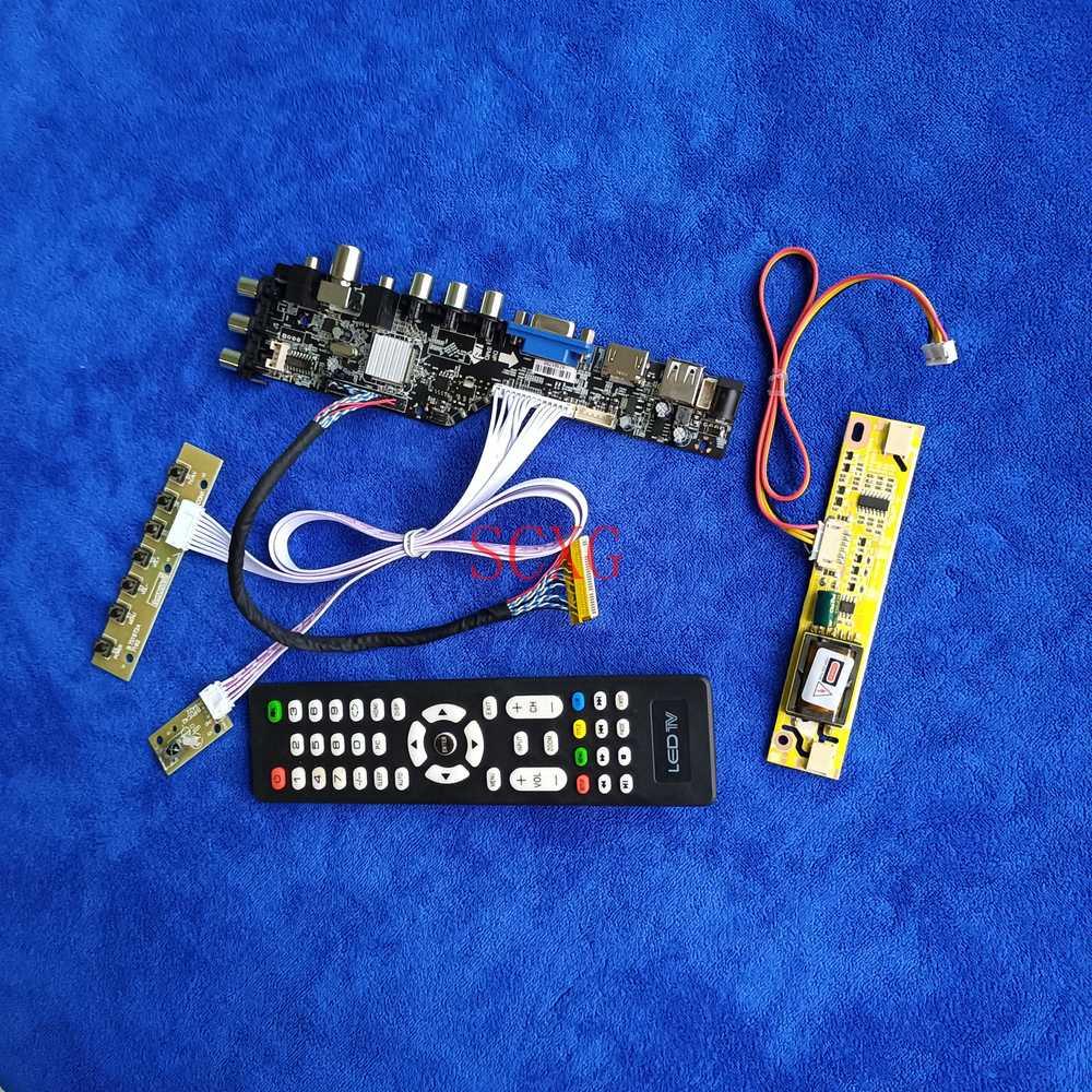 1600*900 DVB إشارة LVDS الرقمية 30 دبوس صالح M200O1/M200RW01/MT200LW01 عدة LCD مصفوفة كارت قيادة HDMI متوافق USB AV VGA 2CCFL