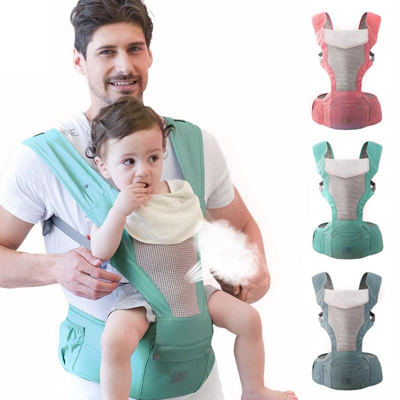 Portabebés mochila ergonómica para bebé recién nacido previene las piernas tipo O Sling Bebé Canguro portador