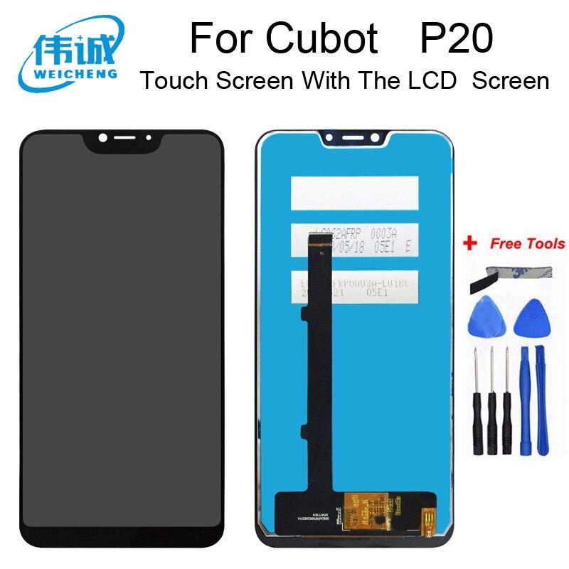 WEICHENG calidad superior para pantalla LCD Cubot P20 + MONTAJE DE digitalizador con pantalla táctil accesorios de repuesto + herramientas gratis