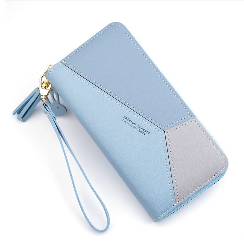 Mobile Phone Cover Tassel Women Wallets Case Female Long Purse Ladies Card Holder Clutch Double Zipp