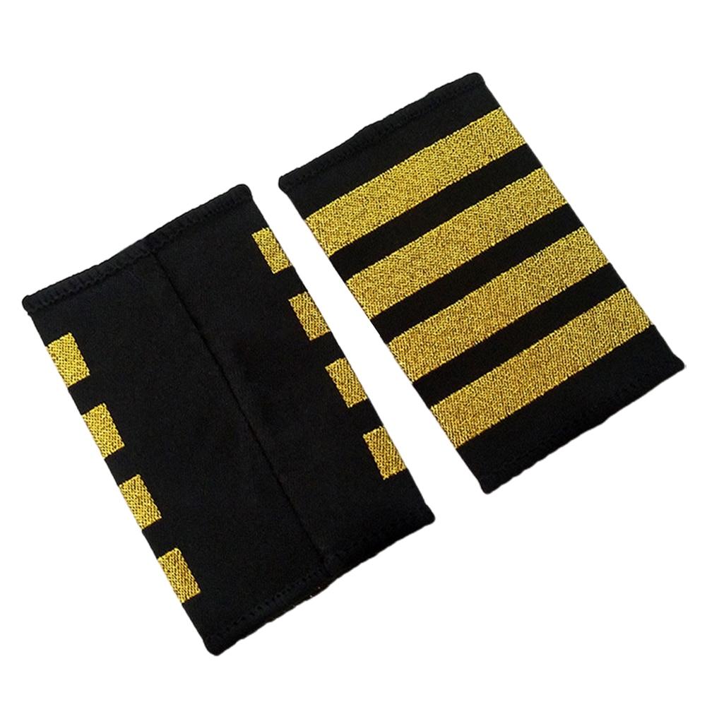 Accesorios profesionales para uniformes, 1 par de insignias de hombro para manualidades de la línea aérea DIY, accesorios para prendas de vestir de piloto, para decoración de ropa, regalo de camisas