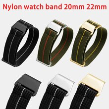 Elastic Nylon Band 20mm 22mm French Troops Parachute Bag Watchband for Samsung Gear S3 Frontier/Clas