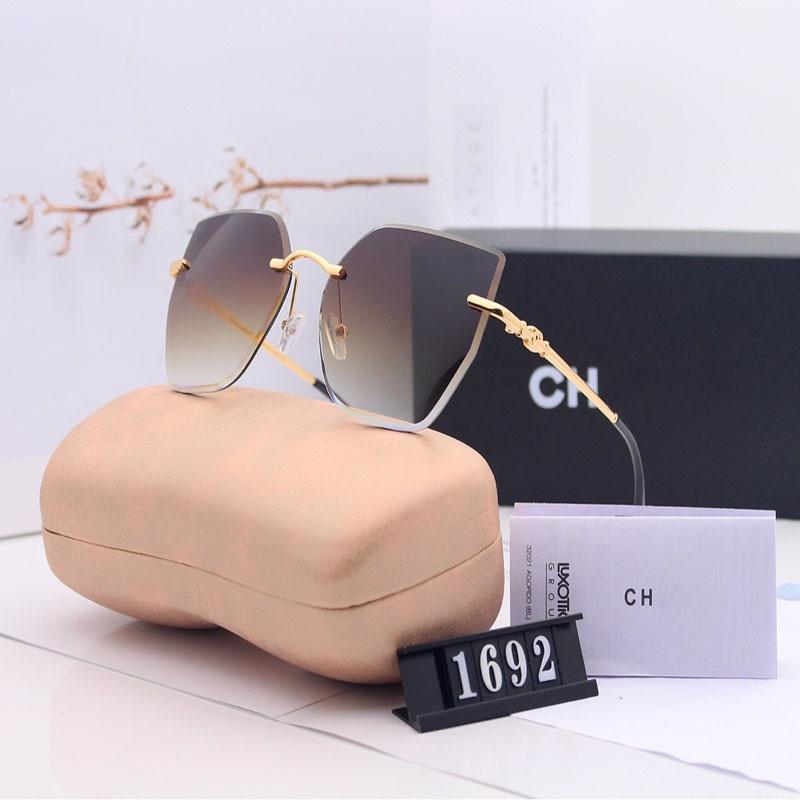 2020 New Ladies Polarized Sunglasses Color Gradient Sunglasses Frameless Fashion Trend Sunglasses Fa