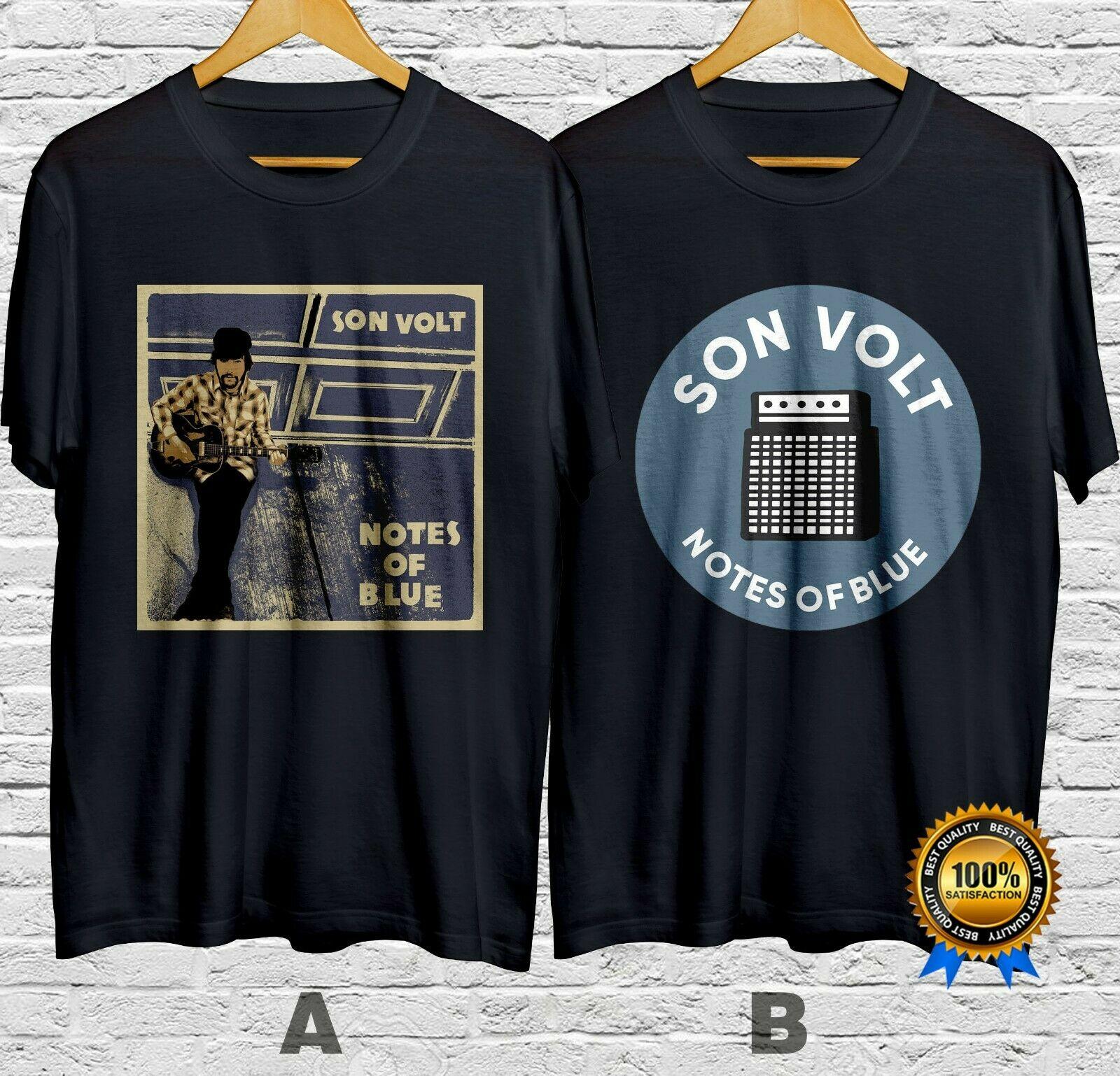 Son Volt Band Notes Of Blue camiseta algodón 100% manga corta S-4Xl envío rápido