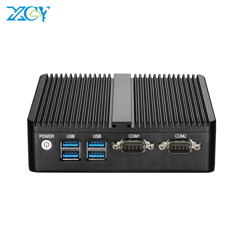 XCY мини-ПК Intel Pentium N3540 четырехъядерный 2x RS232 двойной Ethernet 300M WiFi HDMI VGA 4 * USB безвентиляторный промышленный ПК Windows Linux