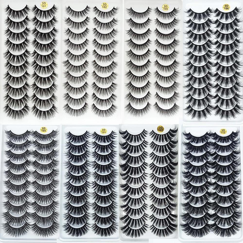 5/10 paar Handgemachte Nerz Wimpern Make-Up 3D Nerz Wimpern Natürliche Falsche Wimpern Lange Wimpern Verlängerung 5 Paar Gefälschte wimpern