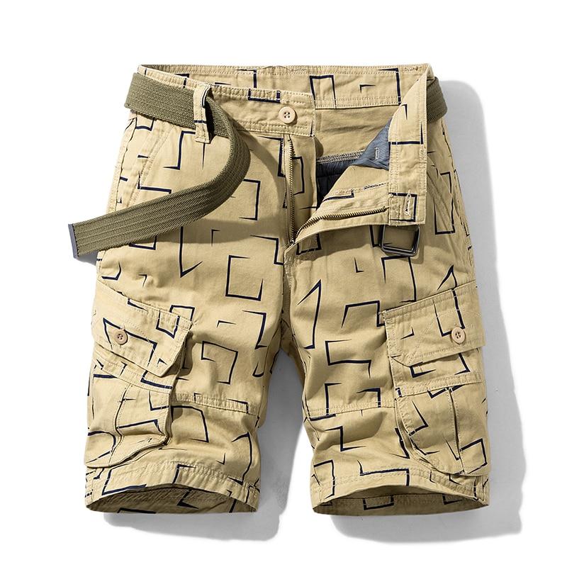 Хлопковые повседневные мужские шорты, летние мужские спортивные брюки-карго, мужские повседневные брюки, мужские шорты