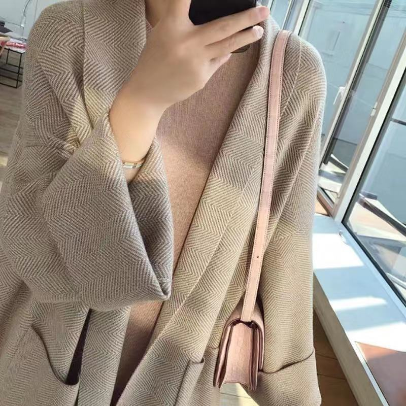 2020 Autumn spring fashion long cardigan for women knitted sweater open front fall outfits 1.2 enlarge