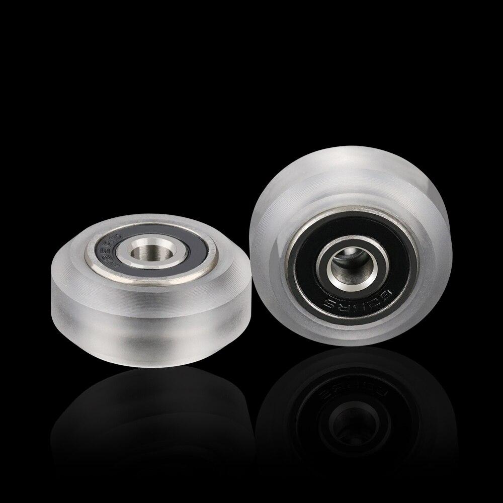 10 Uds CNC de alta precisión policarbonato transparente Xtreme v Mini rueda para sistema de riel lineal con ranura en v