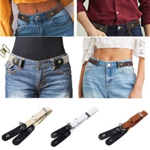 Buckle-free Belt Women Men Jean Pants Invisible Elastic Waist Belts Punk Style No Buckle Belts Ladie