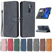 Кожаный флип-чехол для Xiaomi Redmi 9, чехол для Xiaomi Redmi 9, 9T, 9C, 9A, Note 10 Pro, чехол-Бумажник для телефона