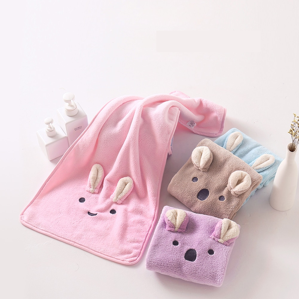 AliExpress - Infant Stuff Coral Fleece Toddler Towels Washcloth Shower Towel Absorbent Warm Soft Newborn Baby Bath Towel 35x75cm