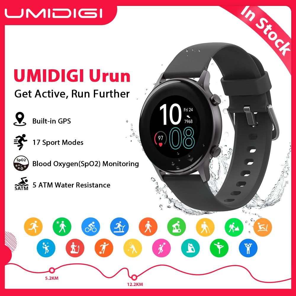 Água para Android 5atm à Prova Umidigi Urun Smartver Cor Freqüência Cardíaca Sono Monitoramento Esporte Relógio Inteligente Dwaterproof Ios Gps 1.1