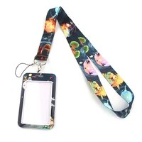 jf0008 little prince and fox lanyard for key id card gym phone strap usb badge holder fashion hanging rope lariat lanyard