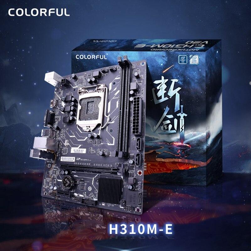 Bunte H310M-E V20A Motherboard Dual Kanal DDR4 RAM USB 3,0 SATA 3,0 6 Gb/S für In tel LGA 1151 Interface kaffee See-S Serie