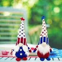 Ornement en peluche Gnome patriotique  2 pieces  pour decoration de maison  salon  bureau  Vintage  pour la maison   25