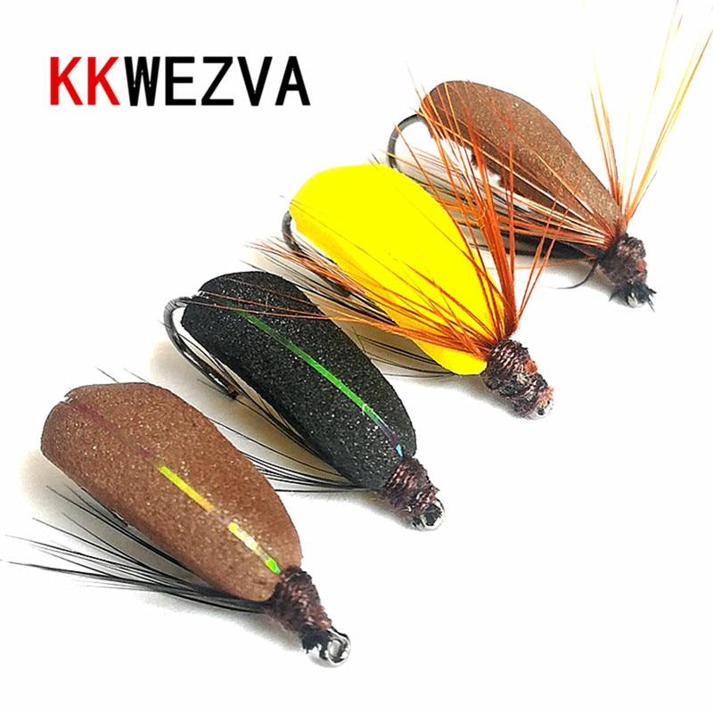 KKWEZVA, Mosca de pesca de 20 piezas, pesca de insectos, tipo flotante seco, insecto similar a mosca artificial, cebo de trucha, aparejo de pesca