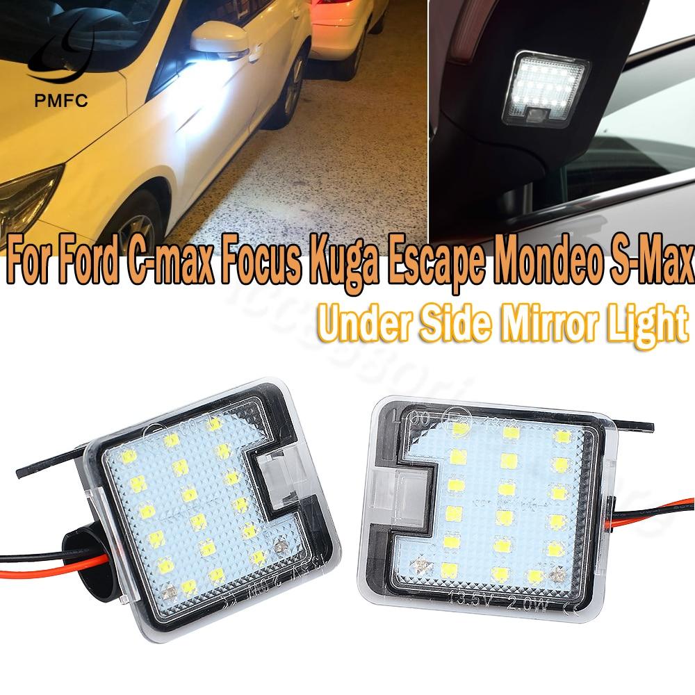 PMFC LED Courtesy light Super Bright 2x LED Under Side Mirror Light for Ford C-max Focus Kuga Escape Mondeo IV S-Max
