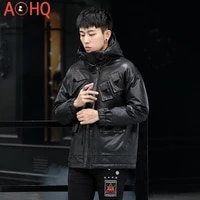 winter jackets for men clothing genuine cowhide leather 91 duck down jacket real gold mink fur coat chaquetas lxr1009