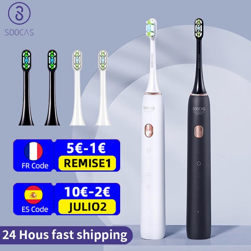 SOOCAS سونيك فرشاة الأسنان الكهربائية X3U الترا سونيك فرشاة الأسنان رئيس نظافة الكبار التلقائي الذكية تبييض الأسنان: من شاومي youpin