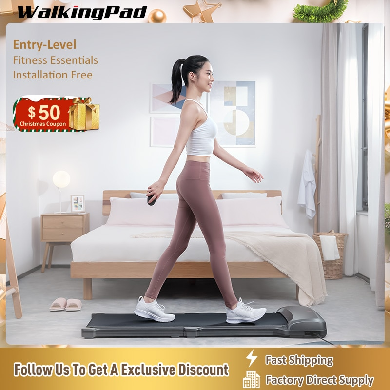 KingSmith WalkingPad Treadmill Walk C1 Foldable Fitness Apparatus Smart Aerobic Exercise Remote Control App Connect Home Sport