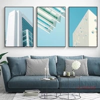 modern minimalist canvas painting nordic architecture abstract posters and prints home decoration living room wall art pictures