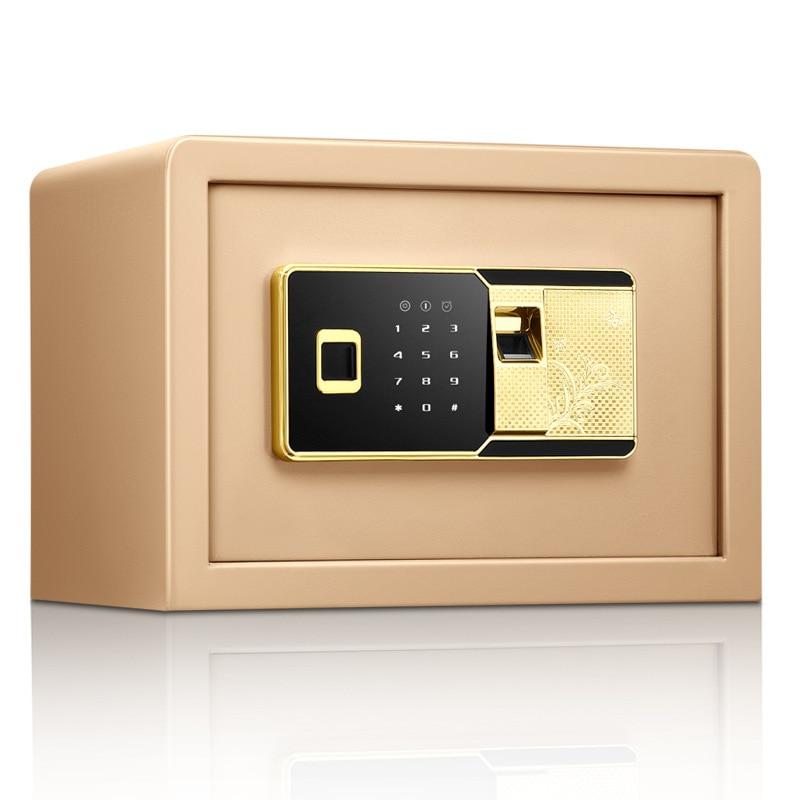 safe Fingerprint Password Safe All Steel Small Home Office Safe 25Cm Fingerprint Electronic Password Safe Home Small Safe