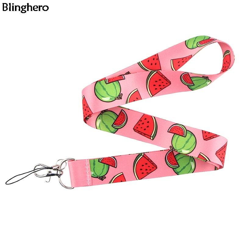 Blinghero caroon colhedor legal melancia cópia colhedores cinta telefone titular pescoço correias pendurar cordas moda chaves acessório bh0312