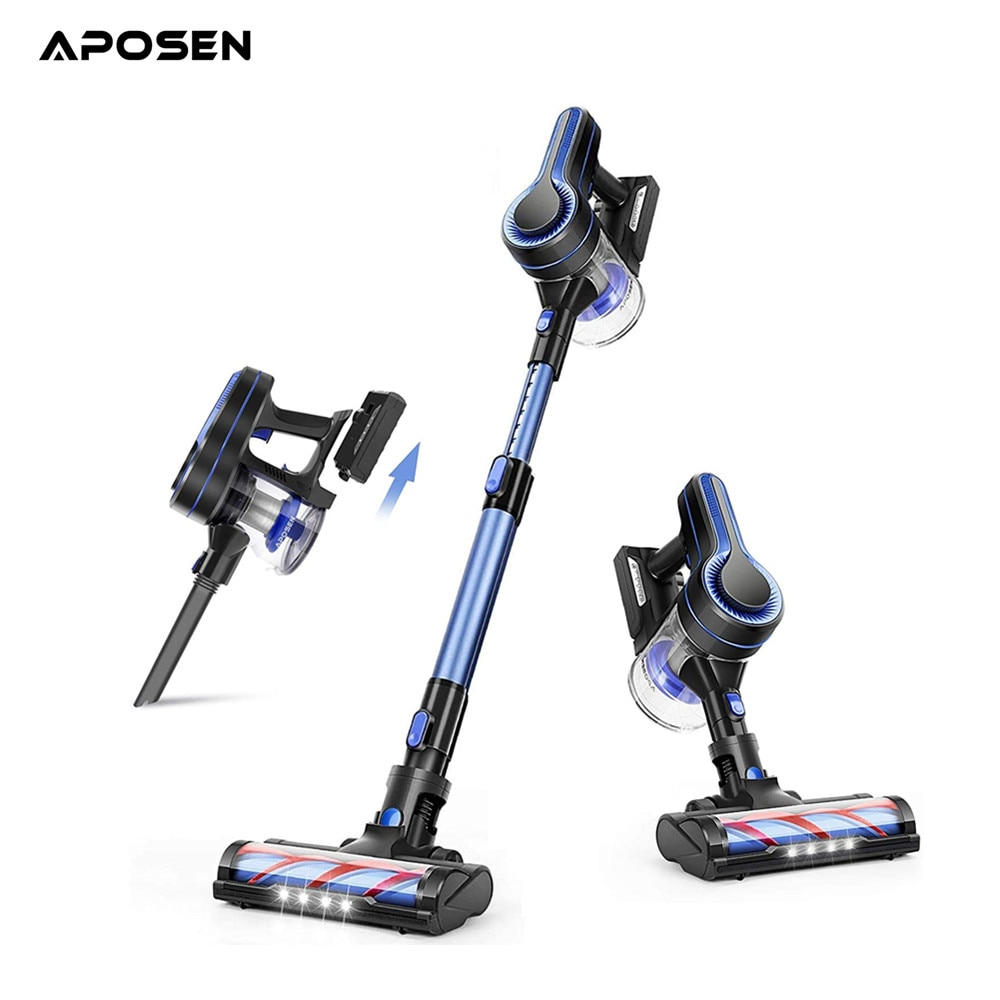 APOSEN Handheld Wireless Vacuum Cleaner OLED Display Portable Cordless 24000Pa All in one Dust Collector floor Carpet Cleaner