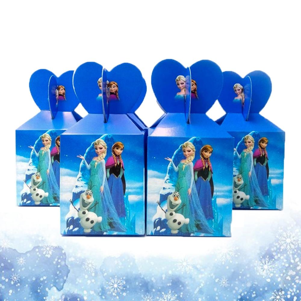 AliExpress - 12pcs Frozen Theme Paper Candy Boxes Festival Girls Birthday Party Decoration Disposable Princess Anna Elsa Gift Boxes Supplies