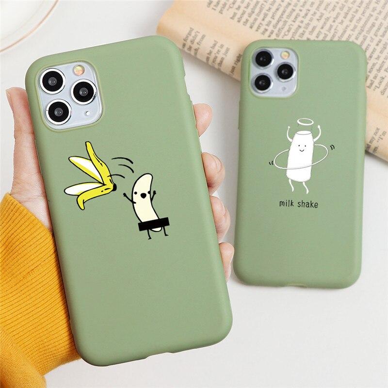 Dibujos animados gatos lindos caso mate para el iPhone 5S 7 SE 10 X XR XS Max de silicona suave cubierta posterior para el iPhone Max 11 Caso 8 6 5 6S Plus Pro