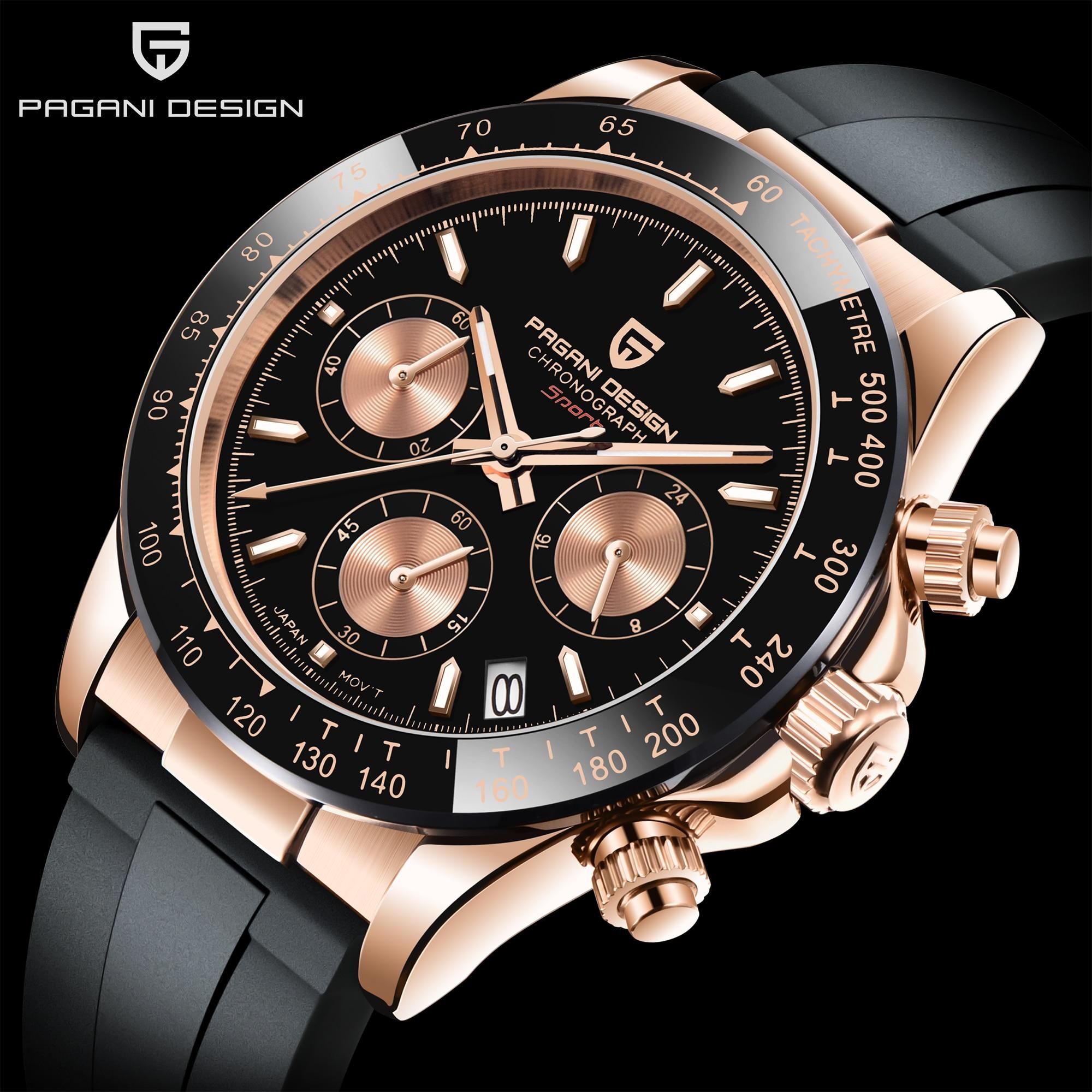 2021 New PAGANI DESIGN Top Brand Men Quartz Watches Sapphire Automatic Date Chronograph Japan VK63 Waterproof Watch Reloj Hombre