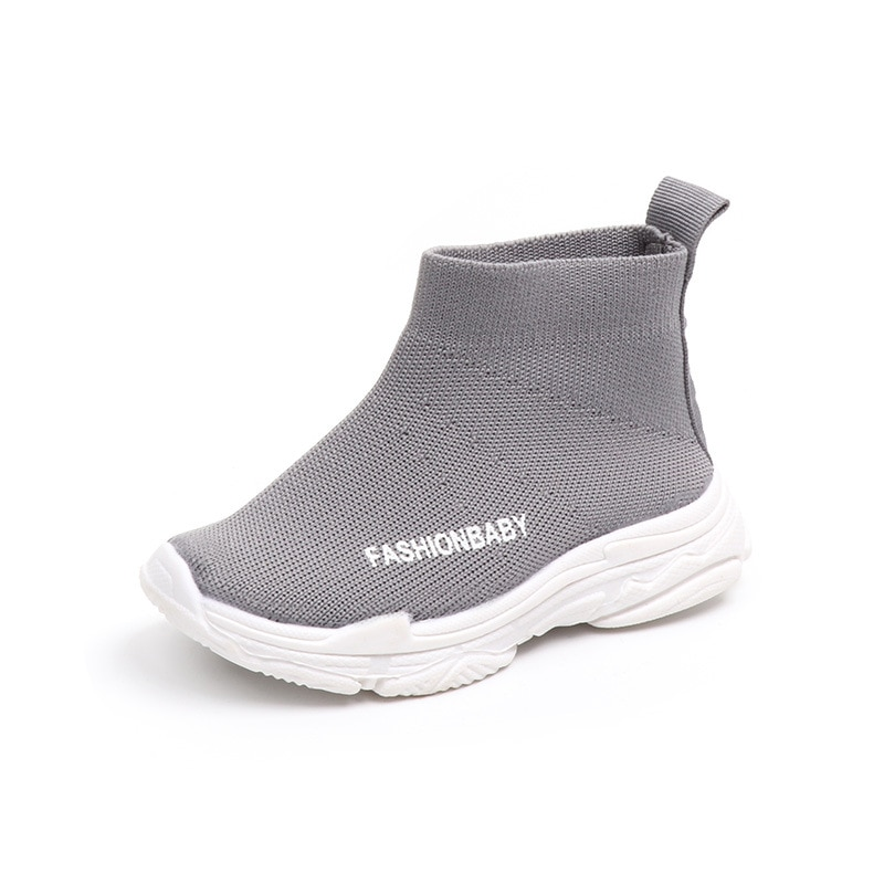 Autumn Winter Kids Sneakers Children Casual Shoes Slip-on Breathable Kids Socks Shoes Non-slip Snow