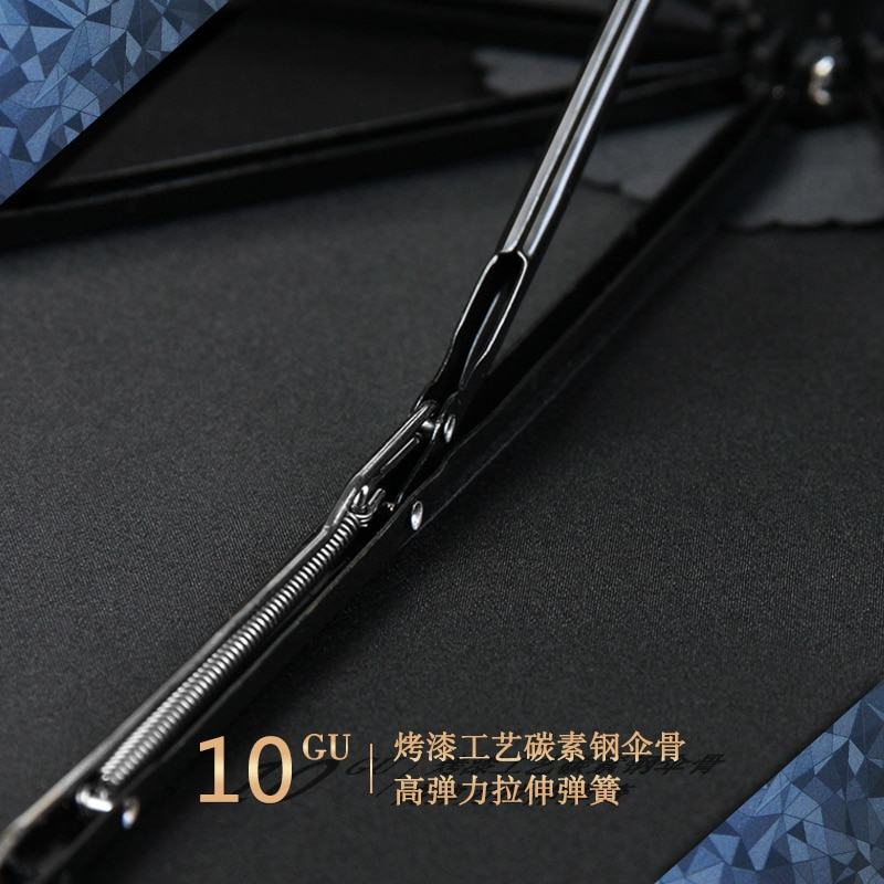 Beautiful Fully Automatic Long Umbrella Fashion Academia Umbrella Chinese Waterproof Outdoor Strong Paraplu Rain Gear  EH50UM enlarge