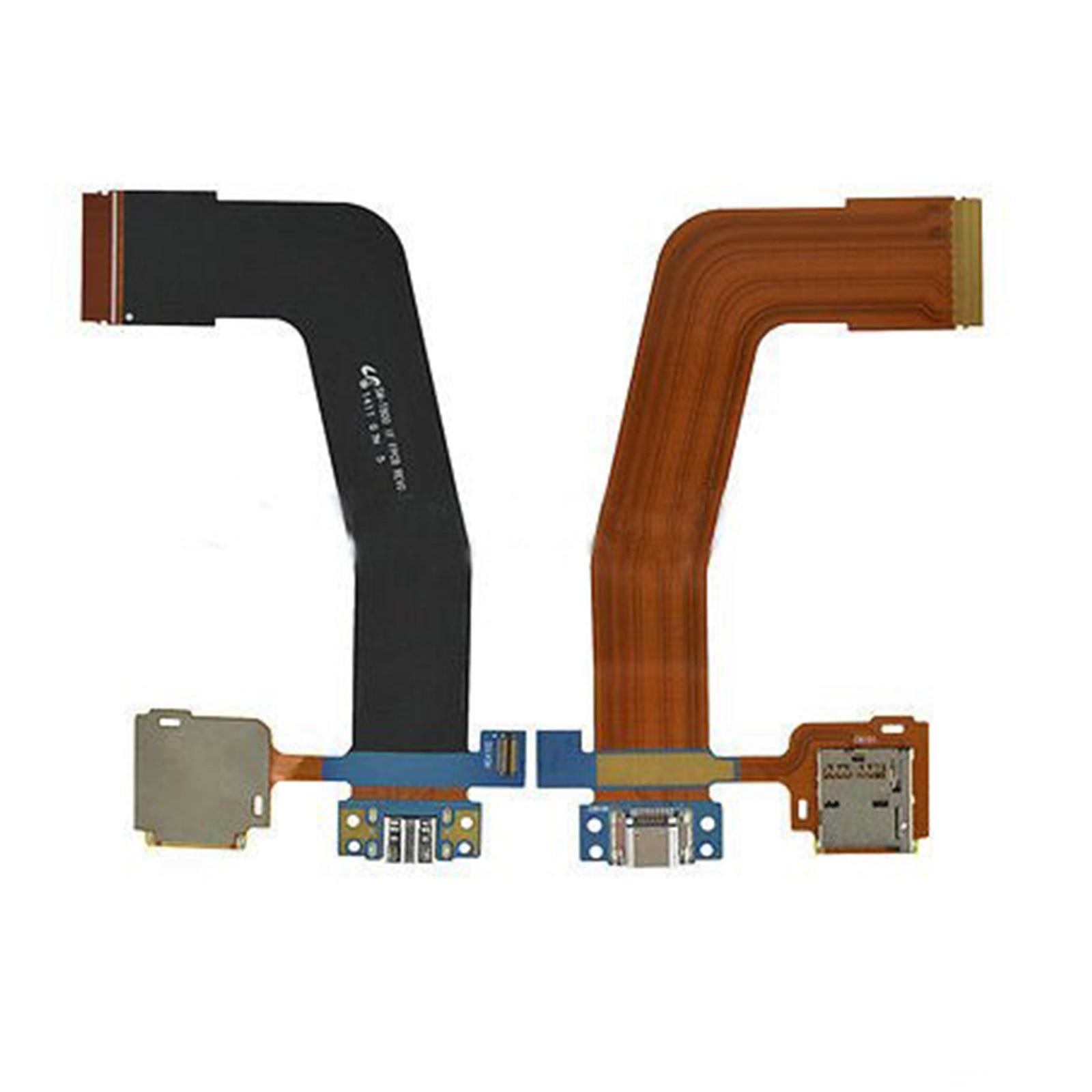 10 unids/lote Samsung Galaxy Tab P5100 P5200 P7100 P7300 P7500 P900 P550 T550 P600 T520 T530 T800 N8000 puerto de carga Flex Cable
