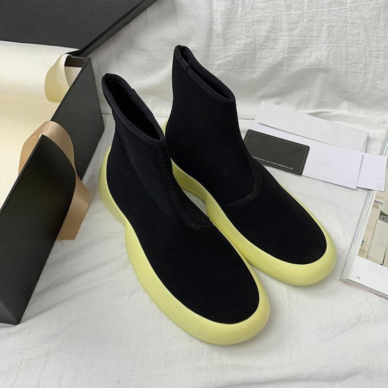Botas de punto elegantes para Mujer deslizantes en los zapatos de pasarela...
