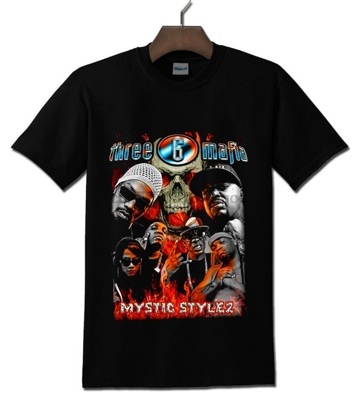 Camiseta negra de estilo místico de tres 6 de la DEA S-2XL