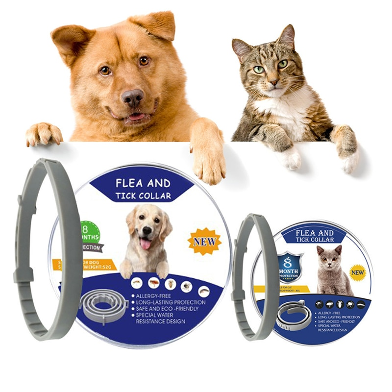 Perro mascota Collar antipulgas TPE de mascota perro gato Anti pulga y garrapata y Collar antipulgas Mosquito insecto Collar ajustable para la protección para mascotas
