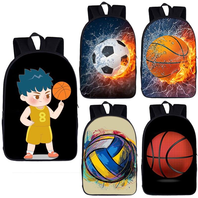 كرة القدم كرة السلة نمط الحقائب المدرسية للأولاد في سن المراهقة كرة السلة طباعة حقائب مدرسية للأطفال مخصص حقيبة مدرسية كتاب