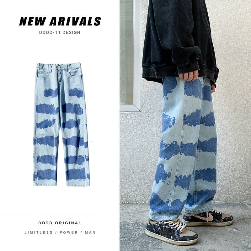 HybSkr 2021 Man Straight Jeans Woman Casual Oversize Denim Pants Korean Streetwear Male Jeans Hip Hop